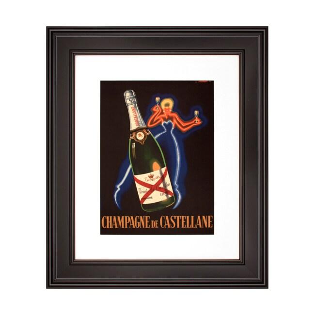 'Champagne De Castellane' Framed Print Art
