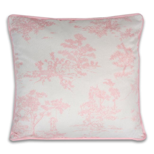 Vintage Toile Decorative Printed Pillow