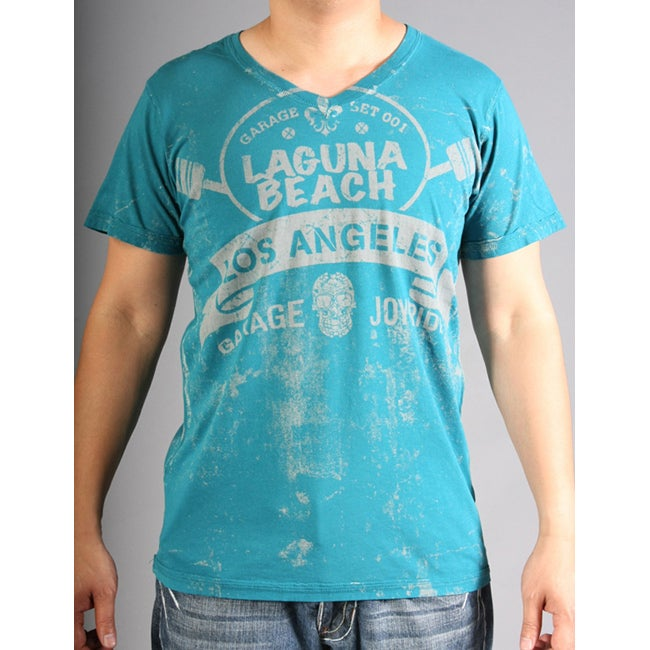 Laguna Beach Jeans Men's 'Crystal Cove Beach' Turquoise Tee