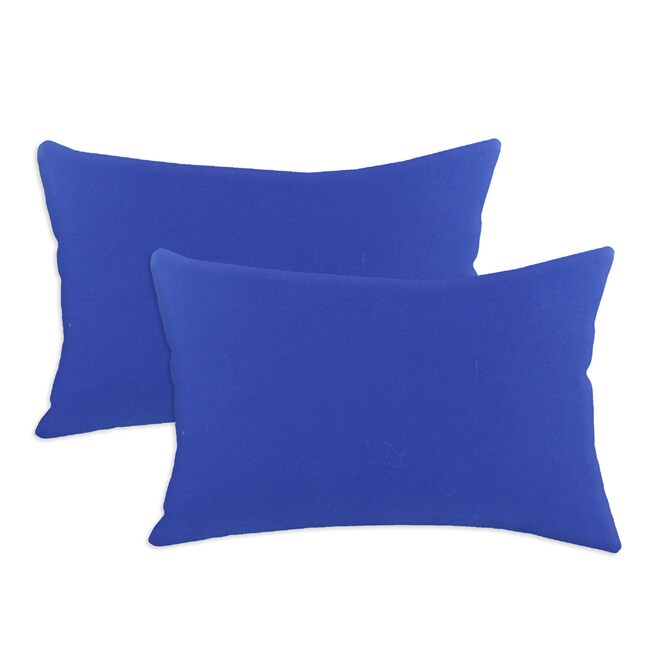 Duck Royal Blue S-backed 12.5x19-inch Fiber Pillows (Set of 2)