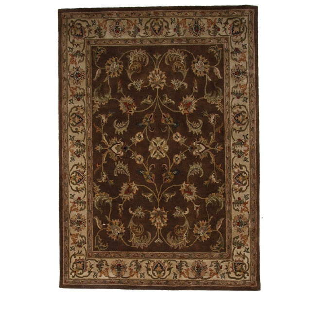 Hand-Tufted Tempest Brown/Beige Area Rug (8' x 10') - Thumbnail 0
