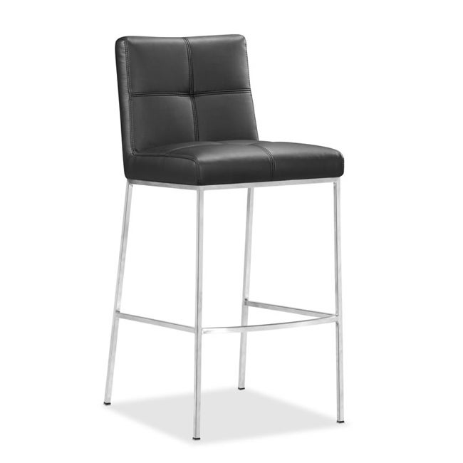 Zuo Box Black Bar Chairs (Set of 2)