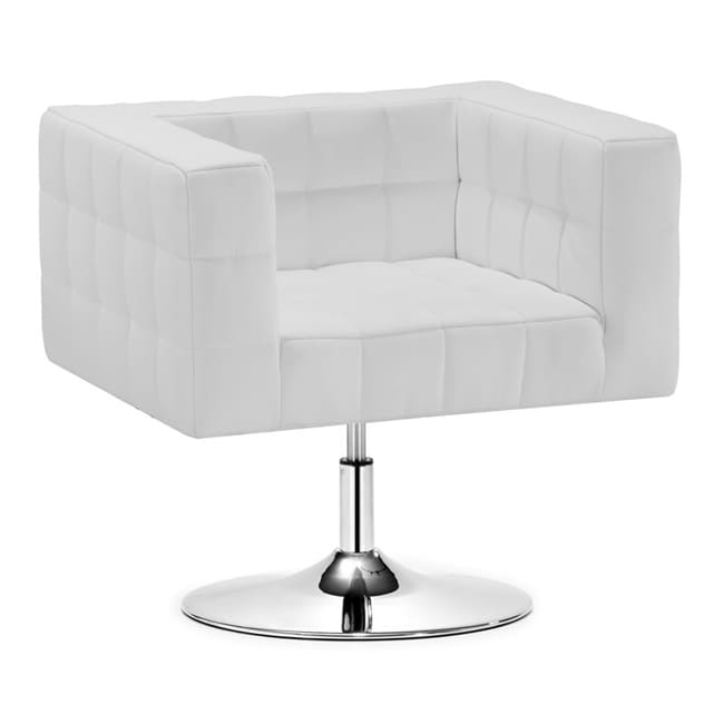 Zuo Cubo White Adjustable Office Chair