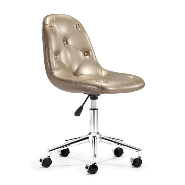Zuo Life Gold Adjustable Office Chair - Thumbnail 0