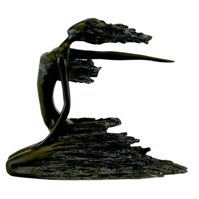 Urban Trend Resin Lady Sitting Sculpture