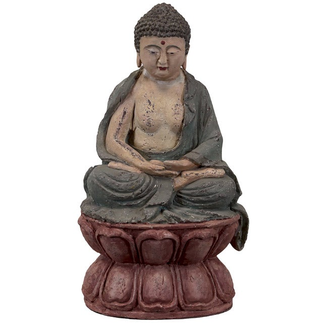 Resin Buddha with Antique Finish