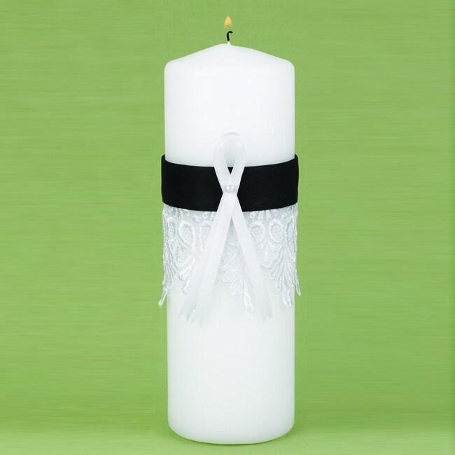 Black Timeless Treasure Unity Candle