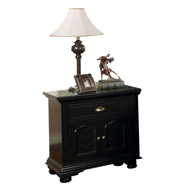 Newville Black Nightstand - Thumbnail 0