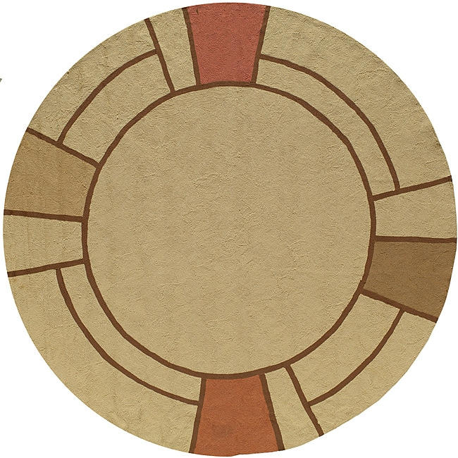 South Beach Camel Wright Indoor/ Outdoor Rug (9' x 9')