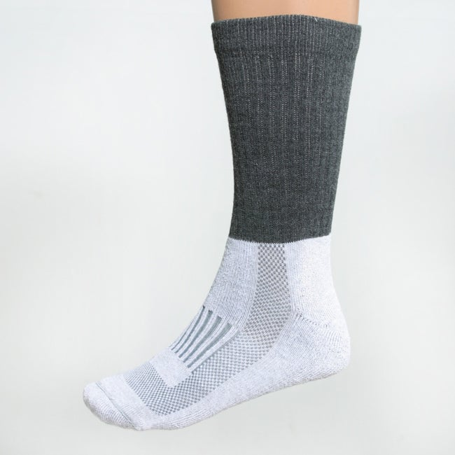 Pack of Four Fox River Charcoal/Heater-gray Unisex Outdoor Crew Socks