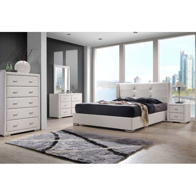 Braden White King Size 5 Piece Bedroom Set