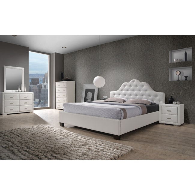 Cassidy white queen size 5 piece bedroom set free - Queen size bedroom furniture sets ...