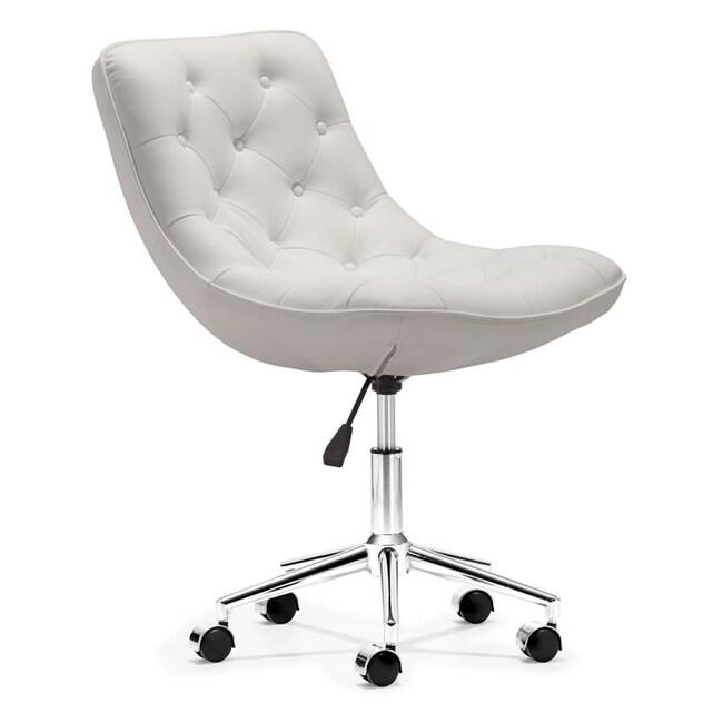 Bon Bon White Office Chair