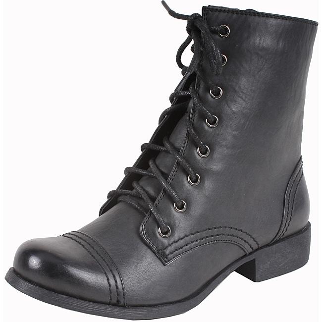 Elegant by Beston Women's 'Bettina-2' Black Booties