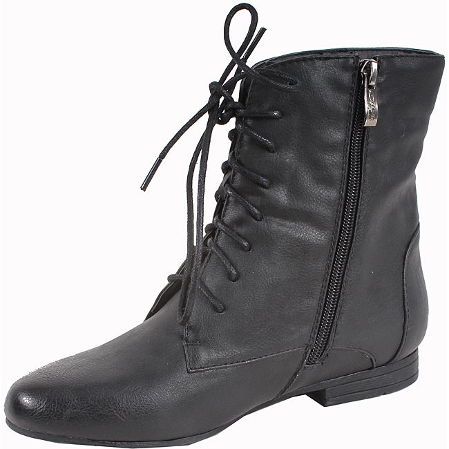 Elegant by Beston Women's 'Meley-3' Black Ankle Boots