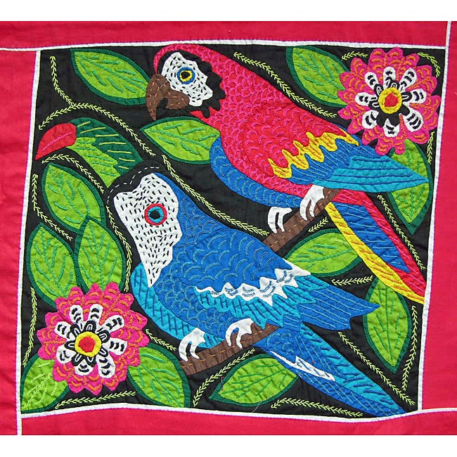 Toucan and Parrot Tapestry (Panama)