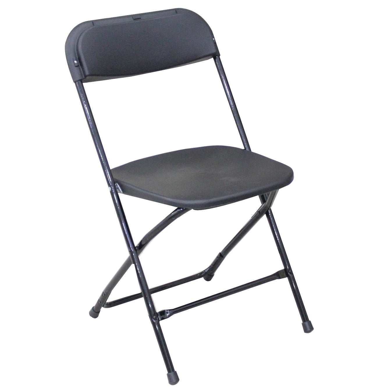 Gallery Lightweight Black Plastic Folding Chairs (Pack of 6) - Thumbnail 0