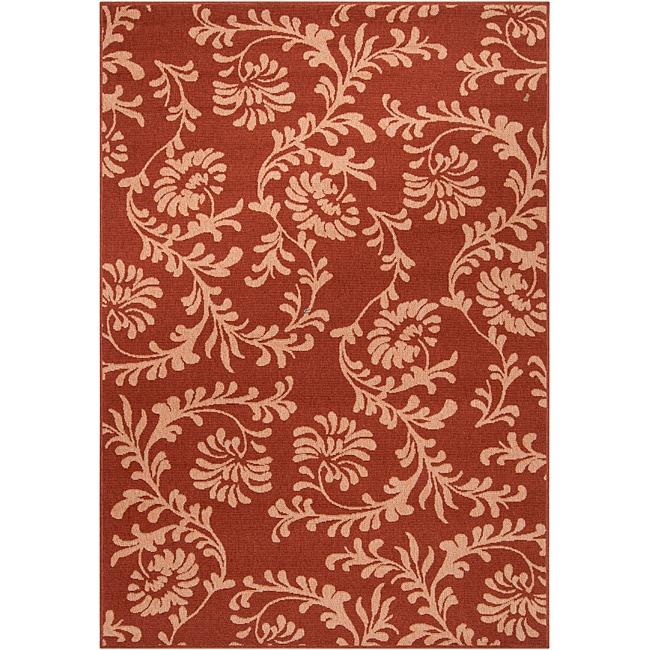 Parma Russet Floral Indoor/Outdoor Rug (7'6 x 10'9)
