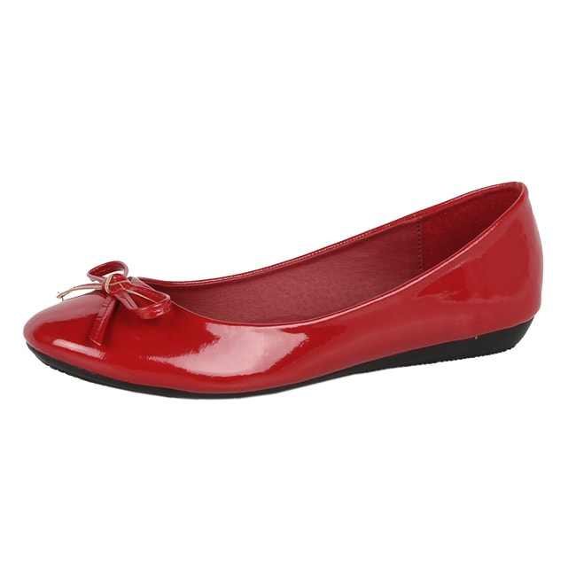 Modesta by Beston Women's 'Jade-12' Red Patent Flats