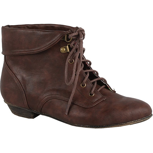 Modesta by Beston Women's 'Tiko-01' Brown Ankle Booties