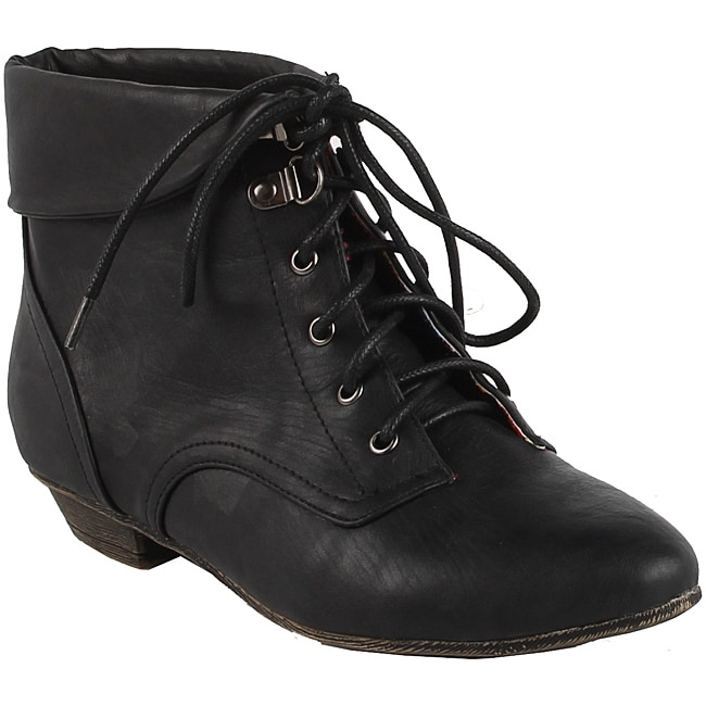 Modesta by Beston Women's 'Tiko-01' Black Ankle Booties