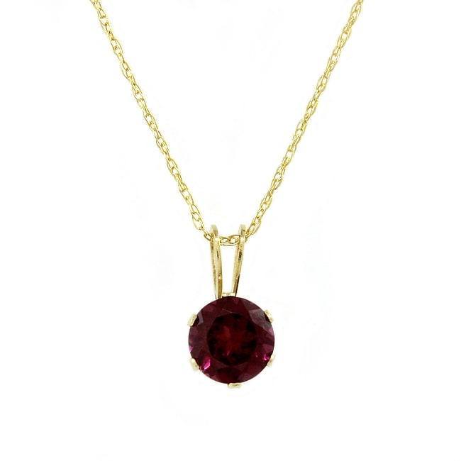 Beverly Hills Charm 14k Yellow Gold Rhodolite Garnet Necklace - Thumbnail 0
