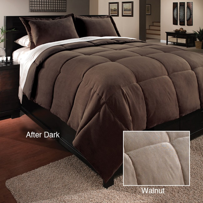 Executive Stripe Down Alternative Comforter and Sham Set