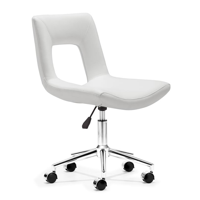 Wringer White Office Chair
