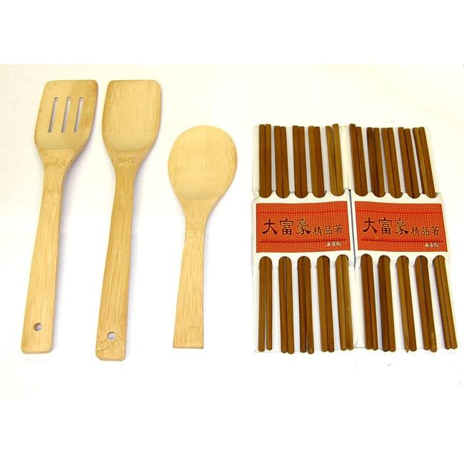 Concord Bamboo Tool and Reusable Bamboo Chopsticks Set