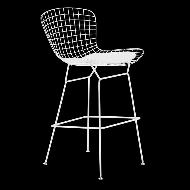 Zuo Wire White Bar Chair (Set of 2)