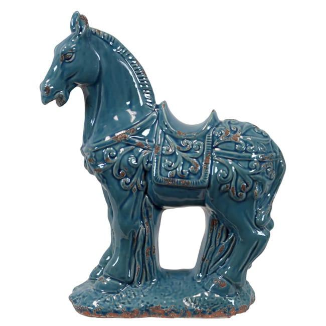Turquoise Ceramic Horse