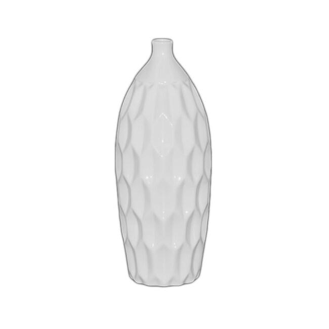 White 14.5-inch Ceramic Vase