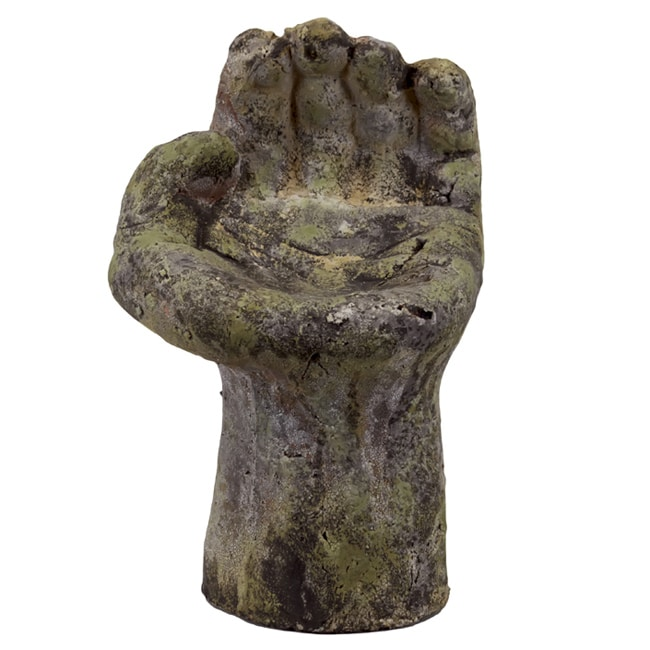 Urban Trend Moss Finish Bird Feeder Hand Stoneware Sculpture