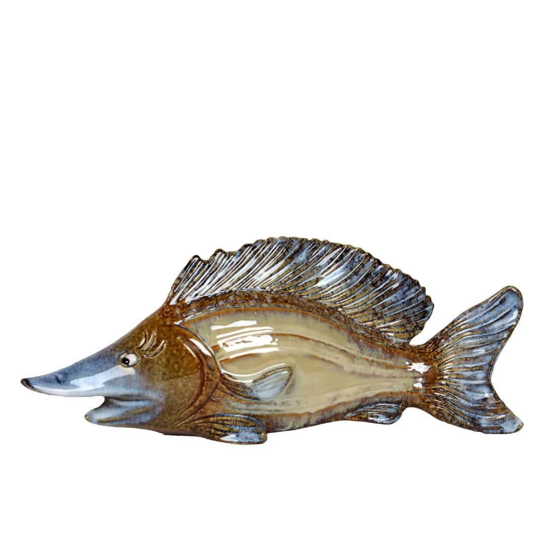 Urban Trend Brown-tone Fish Ceramic Sculpture