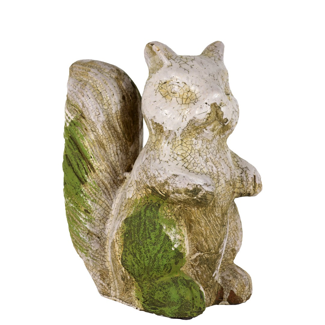 Moss Finish Stoneware Squirrel