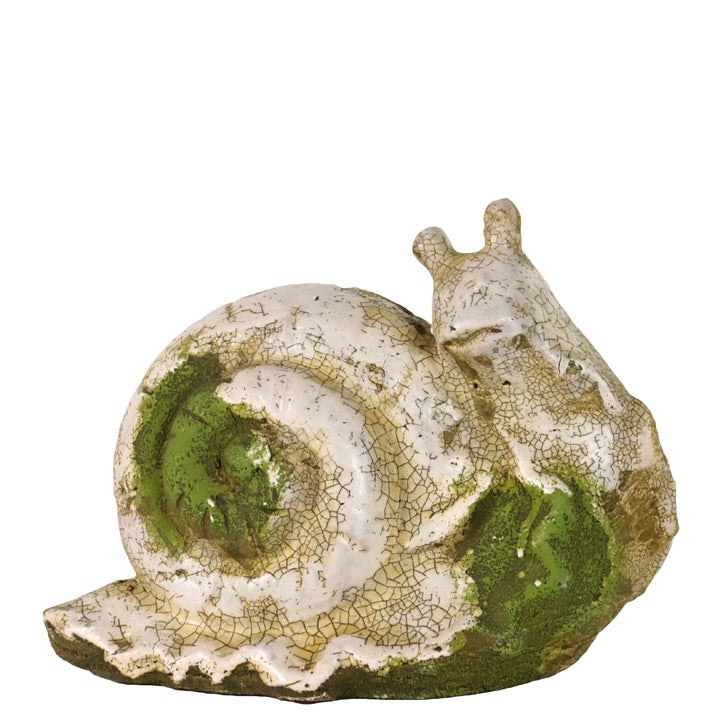 Moss Finish Stoneware Snail