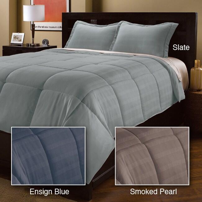 Woven Plaid Down Alternative Comforter and Sham Set