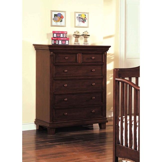 Heartland Cherry Finish Pine Wood Dresser