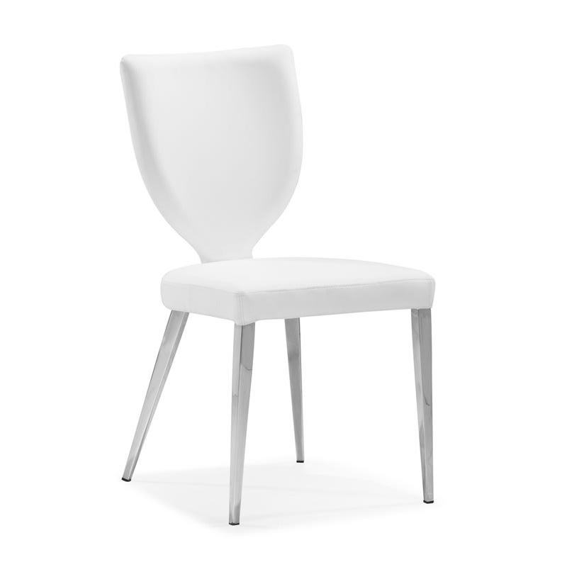 Maz White Dining Chair (Set of 4)