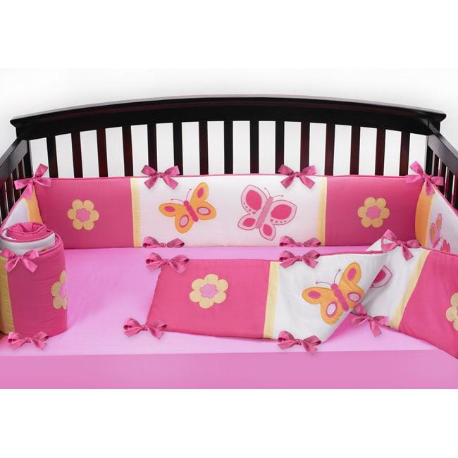 Sweet Jojo Designs Pink And Orange Butterfly Flower Baby
