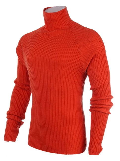 2710129724 Shop Ferre Men s Orange Turtleneck Sweater - Free Shipping Today -  Overstock - 1019891