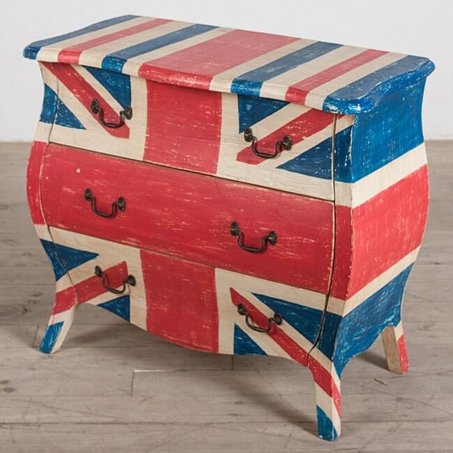 Corbett 'Union Jack' 3-Drawer Dresser (India)