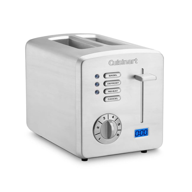 Cuisinart Brushed Stainless Steel 2-slice Toaster with Countdown Timer - Thumbnail 0