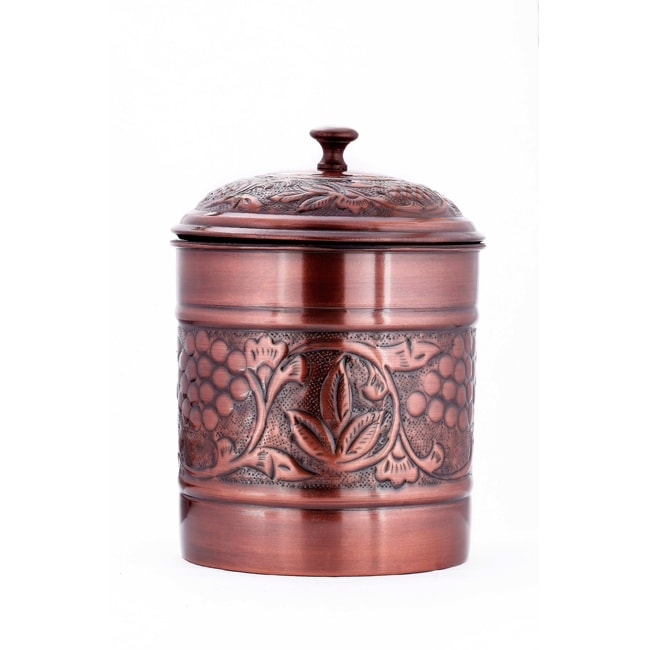 Old Dutch Antique Embossed 'Heritage' 4-quart Cookie Jar - Thumbnail 0