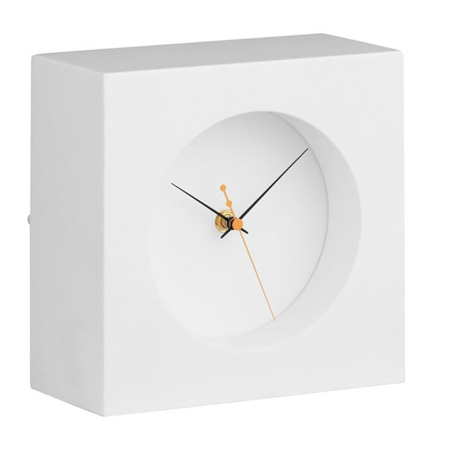 Zuo Porthole White Table Clock
