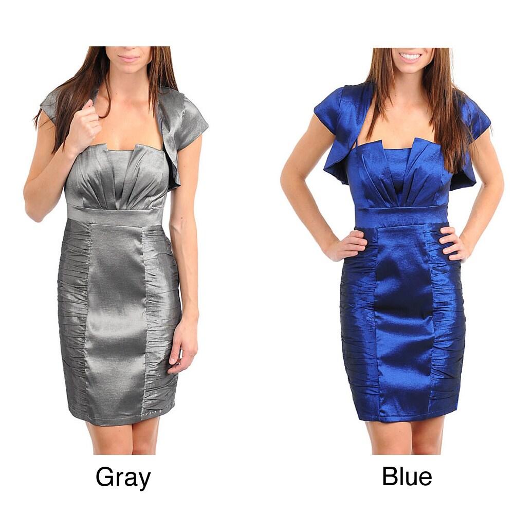 Stanzino Women's Pleated Bolero Dress