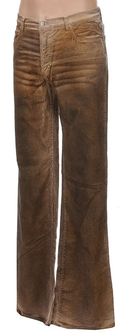 Just Cavalli Men's Brown Bootcut Corduroy Pants - Free Shipping ...
