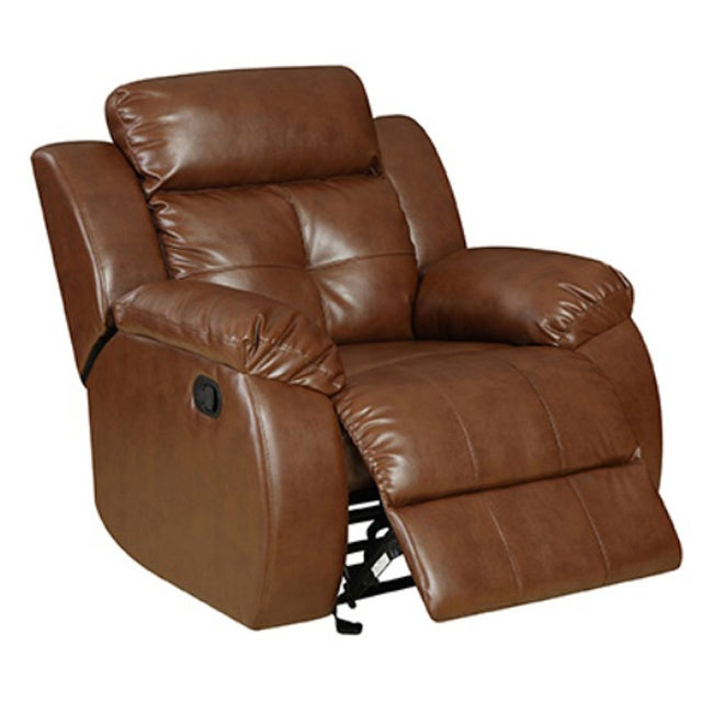 Brown Bonded Leather Joshua Chair