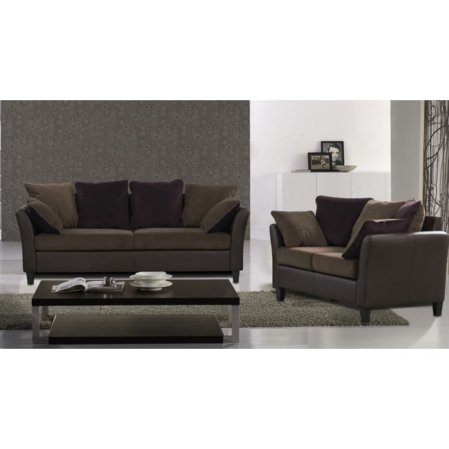 Tucana 2 Piece 2 Tone Sofa set