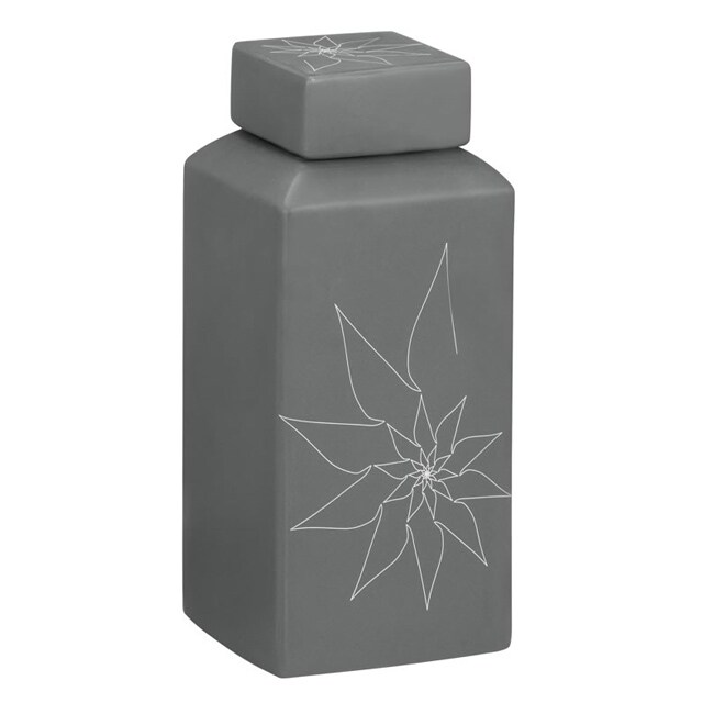Grey Bonnie Rectangular 11.8-inch Vase